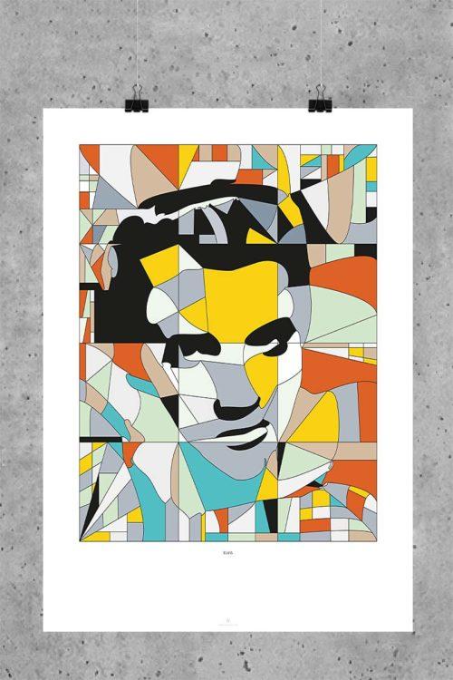 Elvis-Presley-Poster-Glaskunst